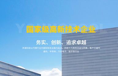洋浦科技响应式网站案例图片